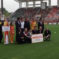 障害者サッカーの普及のためにエスパルス福祉基金を頂きました。