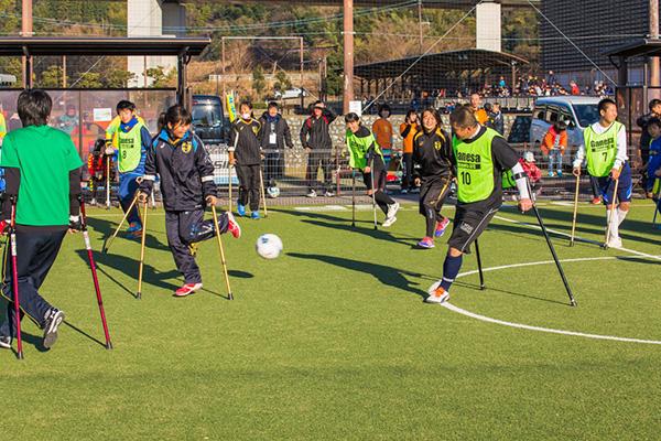アンプティサッカー体験会